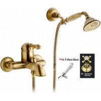 Nicolazzi Classica Lusso 3401 GB 76 для ванны, золотая латунь/белая ручка