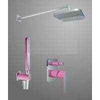 Душевая система Tres Loft 20018002FU фуксия/хром