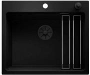Blanco Etagon 6 Black Edition черный с клапаном-автоматом с черной отв.арм. InFino®