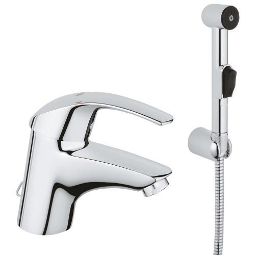 Смеситель Grohe Eurosmart 33462001 для раковины с гигиеническим душем