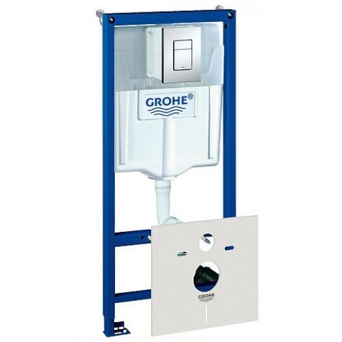 Система инсталляции Grohe Rapid SL 38775001 4 в 1 с кнопкой смыва для унитазов