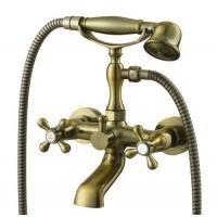 Смеситель Kaiser Carlson Style 44322-1G глянцевая бронза для ванны