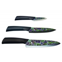 Набор ножей Mikadzo IMARI BLACK (3 ножа) на деревя