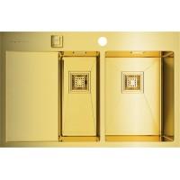 Мойка Omoikiri Akisame 78-2-LG R светлое золото, чаша справа