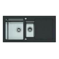 Мойка Seaman Eco Glass SMG-1000 Black, черное стекло