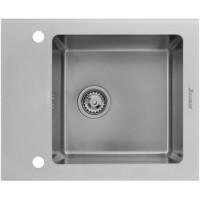 Мойка Seaman Eco Glass SMG-610 White, белое стекло