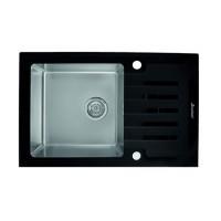 Мойка Seaman Eco Glass SMG-780 Black, черное стекло