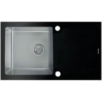 Мойка Seaman Eco Glass SMG-860 Black, черное стекло