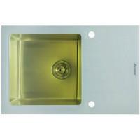 Мойка Seaman Eco Glass SMG-780 White Gold, золото/белое стекло