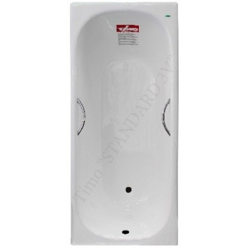 Чугунная ванна Timo Standard 3v 170x75x46 (ножки и ручки в комплекте)