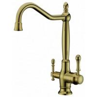 Смеситель для кухни с питьевой водой Aksy Bagno TL-18050 Bronze