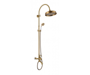 Душевая система Aksy Bagno Faenza Fa401-2005-121 Bronze, лейка 300 мм