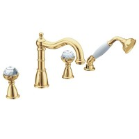 Смеситель для ванны Boheme Imperiale 392, золото