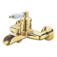 Смеситель для ванны Boheme VOGUE Murano 213-MR-R, золото ручка Золото-рубин декор