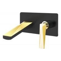 Смеситель для умывальника Boheme Venturo 385-B, золото/черный