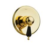 Смеситель для душа Boheme Tradizionale Nero 255, золото ручка черный Swarovski
