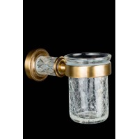 Стакан для зубных щеток Boheme Murano Cristal 10904-CRST-BR
