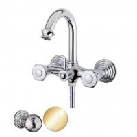 Смеситель Cezares Aphrodite APHRODITE-V-03/24-M для ванны золото, ручки Шар