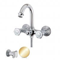 Смеситель Cezares Aphrodite APHRODITE-V-03/24-O для ванны золото, ручки Куб