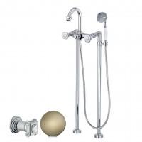 Смеситель Cezares Aphrodite APHRODITE-VDP-02-Sw для ванны бронза, ручки Swarovski