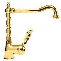 Смеситель Cezares Elite ELITE-LLM2-03/24-M для кухни золото, ручки золото