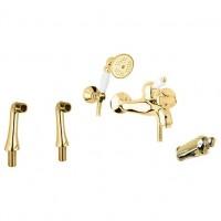 Смеситель Cezares Elite ELITE-PBVM-03/24-M для ванны золото, ручки золото