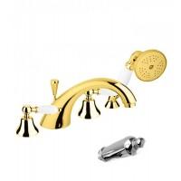 Смеситель Cezares First FIRST-BVD-03/24-M для ванны золото, ручки золото
