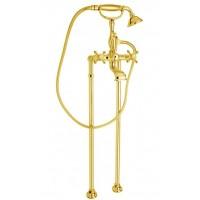 Смеситель Cezares Golf GOLF-VDP-03/24 для ванны золото, ручки золото