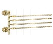 Ganzer GZ 31014E Полотенцедержатель поворотный четверной золото