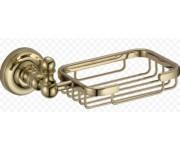 Ganzer GZ 31022E Настенная мыльница решетка золото