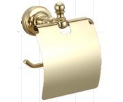 Ganzer GZ 31030E настенный держатель туалетной бумаги с крышкой золото