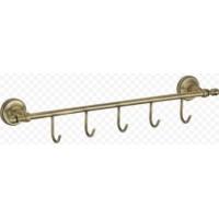 Ganzer GZ 31075D Планка с крючками для полотенец бронза