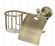 Ganzer GZ-R 31031D Настенный держатель для освежителя и т/бумаги с крышкой