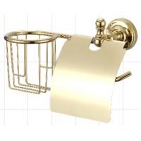 Ganzer GZ-R 31031E Настенный держатель для освежителя и т/бумаги с крышкой золото