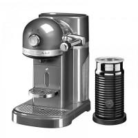 Кофемашина KitchenAid Nespresso 5KES0504EMS+ Aeroccino серебряный медальон