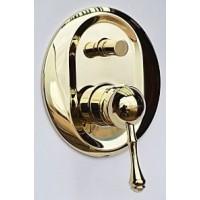 Встраиваемый смеситель с переключателем Magliezza Vista 50148-do (золото)