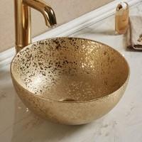 Раковина MELANA MLN-805-107SM золото