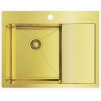 Мойка Omoikiri Akisame 65-LG L светлое золото, чаша слева
