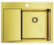 Мойка Omoikiri Akisame 65-LG R светлое золото, чаша справа
