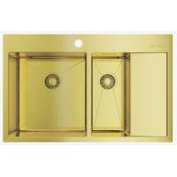 Мойка Omoikiri Akisame 78-2-LG L светлое золото, чаша слева