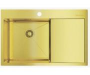 Мойка Omoikiri Akisame 78-LG L светлое золото, чаша слева