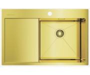 Мойка Omoikiri Akisame 78-LG R светлое золото, чаша справа