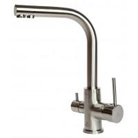 Смеситель Paulmark Essen Es213011-NI для кухни с изливом для фильтра никель