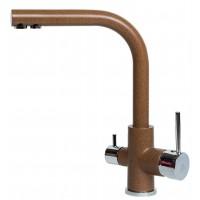 Смеситель Paulmark Essen Es213011-307 для кухни с изливом для фильтра терракот, хром