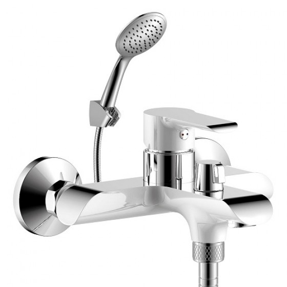 Смеситель Rossinka W35-31 хром/белый для ванны