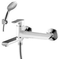 Смеситель Rossinka W35-33 хром/белый для ванны
