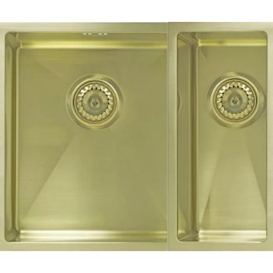 Мойка Seaman Eco Marino SME-575DR Light Gold  (PVD) доп. чаша справа